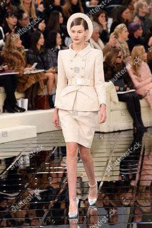 Stock Image of Sofia Mechetner on the catwalk