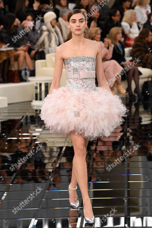 Stock Image of Romy Schonberger on the catwalk