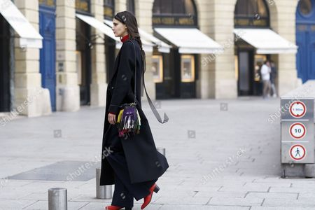 Editorial picture of Street style, Spring Summer, 2017 Haute Couture, Fashion Week, Paris, France - 23 Jan 2017