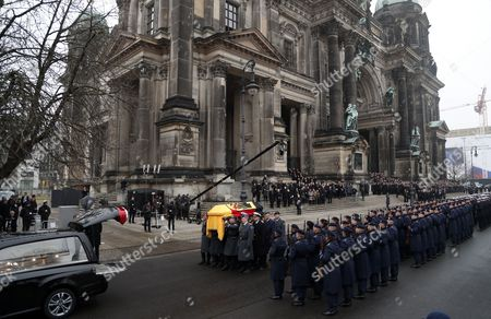 Editorial picture of State ceremony for late former German president Roman Herzog in Berlin, Germany - 24 Jan 2017