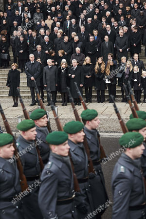 Editorial photo of State ceremony for late former German president Roman Herzog in Berlin, Germany - 24 Jan 2017