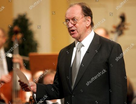 Conductor Nikolaus Harnoncourt Holds a Speech Prior to the Start of the Concert on the Occasion of the Ceremonial Act That Marks the Beginning of the 'Mozart Year' at the Mozarteum in Salzburg Friday 27 January 2006 Today is the 250th Anniversary of the Birth of Composer Wolfgang Amadeus Mozart on January 27 1756 Epa/roland Schlager Austria Salzburg