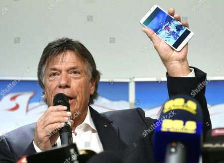 Stock Image of Austrian Skiing Federation President Peter Schroecksnadel During a Press Conference Concerning Austrian Alpine Skiing Star Anna Fenninger After Internal Differences Between Fenninger and the Federation in Vienna Austria 18 June 2015 Austria Vienna