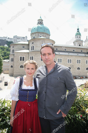 British Actors Eliza Bennett (l) and Matthew Macfayden Pose at a Photocall During the Shooting of the Film 'The Trapp Family - a Life of Music' in Salzburg Austria 01 June 2015 the Movie Tells the Story of the Trapp Family Which Got Famous by the Musical 'The Sound of Music' From 1959 That was Based on the Memoir of Maria Von Trapp Austria Salzburg
