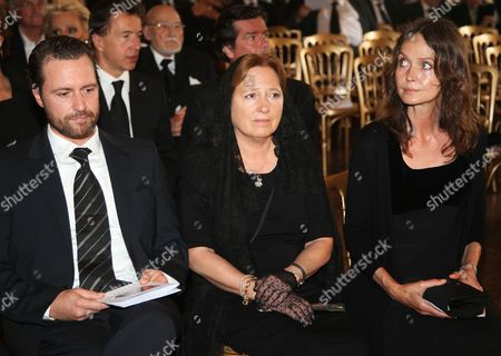 (l-r) Florian Boehm Princess Sissy Zu Bentheim and Daniela Bentheim Attend the Funeral Service of Late Austrian Actor Karlheinz Boehm in Salzburg Austria 13 June 2014 the Founder of the Charity Organisation 'Menschen Fuer Menschen' (lit People For People) Karlheinz Boehm Died Aged 86 in Groedig Near Salzburg on 29 May Austria Salzburg