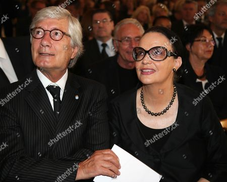 German Actor Christian Wolff (l) and His Wife Marina Attend the Funeral Service of Late Austrian Actor Karlheinz Boehm in Salzburg Austria 13 June 2014 the Founder of the Charity Organisation 'Menschen Fuer Menschen' (lit People For People) Karlheinz Boehm Died Aged 86 in Groedig Near Salzburg on 29 May Austria Salzburg