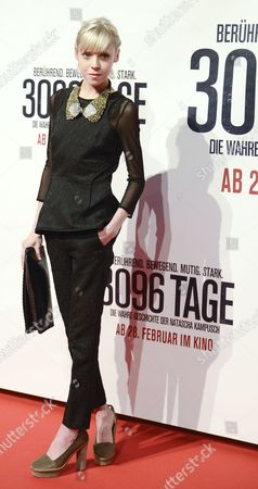Irish Actress Antonia Campbell-hughes Poses on the Red Carpet Prior to the Premiere of the Movie '3096 Days' at Cineplexx Cinema Wienerberg in Vienna Austria 25 February 2013 the Movie Tells the Story of Austrian Natascha Kampusch who was Kidnapped at the Age of 10 and Held in a Cellar For Over Eight Years Austria Vienna
