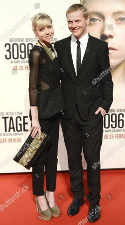 Irish Actress Antonia Campbell-hughes (l) and Danish Actor Thure Lindhardt (r) Pose on the Red Carpet Prior to the Premiere of the Movie '3096 Days' at Cineplexx Cinema Wienerberg in Vienna Austria 25 February 2013 the Movie Tells the Story of Austrian Natascha Kampusch who was Kidnapped at the Age of 10 and Held in a Cellar For Over Eight Years Austria Vienna
