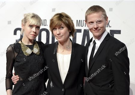 Irish Actress Antonia Campbell-hughes (l) Us Director Sherry Hormann (c) and Danish Actor Thure Lindhardt (r) Pose on the Red Carpet Prior to the Premiere of the Movie '3096 Days' at the Cineplexx Cinema Wienerberg in Vienna Austria 25 February 2013 the Movie Tells the Story of Austrian Natascha Kampusch who was Kidnapped at the Age of 10 and Held in a Cellar For Over Eight Years Austria Vienna