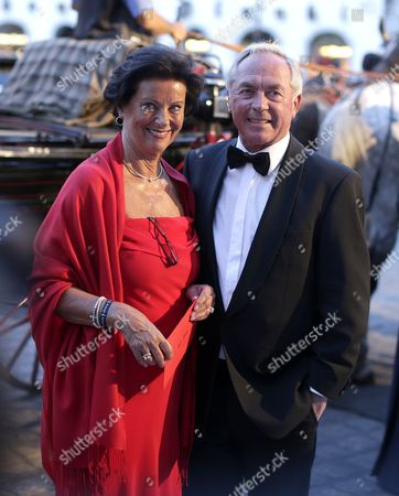 Former Austrian Alpine Skier Karl Schranz Arrives with Female Company For the Opening Ceremony of the Summer Ball Fete Imperiale at the Spanish Riding School in Vienna Austria 27 June 2014 Austria Vienna