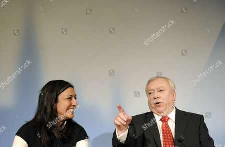Vienna's Green Party Leader Maria Vassilakou and Mayor of Vienna Michael H?upl From the Social Democratic Party on 12 November 2010 During a Press Conference where They Announced a Red-green Coalition Pact For the Muncipial Government in Vienna Austria Austria Vienna