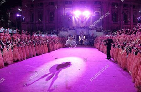 Austrian Ballerina Karina Sarkissova Performs During the Opening Ceremony of the Vienna Life Ball 2011 at Vienna's Town Hall Square in Vienna Austria 21 May 2011 the Life Ball in Vienna is the Biggest Charity Event in Europe Supporting People with Hiv Or Aids Austria Vienna