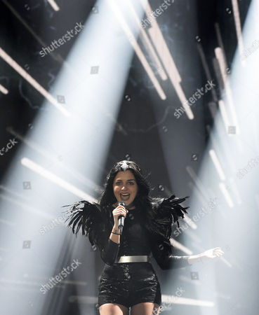 Nina Sublatti Representing Georgia Performs During Rehearsals For the Grand Final of the 60th Annual Eurovision Song Contest (esc) at the Wiener Stadthalle in Vienna Austria 22 May 2015 the Grand Final Takes Place on 23 May Austria Vienna