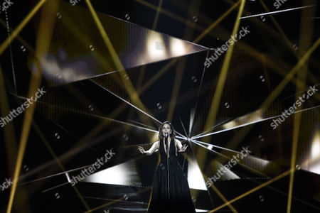 Elhaida Dani Representing Albania Performs During Rehearsals For the Grand Final of the 60th Annual Eurovision Song Contest (esc) at the Wiener Stadthalle in Vienna Austria 22 May 2015 the Grand Final Takes Place on 23 May Austria Vienna