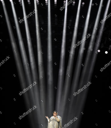 Singer Bojana Stamenov Representing Serbia Performs During Rehearsals For the Grand Final of the 60th Annual Eurovision Song Contest (esc) at the Wiener Stadthalle in Vienna Austria 22 May 2015 the Grand Final Takes Place on 23 May Austria Vienna