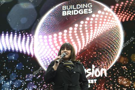 Lisa Angell Representig France Performs During the 'Big 5' Special Appearance As Part of the 60th Annual Eurovision Song Contest (esc) at the Town Hall Square in Vienna Austria 20 May 2015 Angell Will Compete in the Esc 2015 Grand Final on 23 May Austria Vienna
