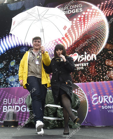 Lisa Angell (r) Representig France Performs During the 'Big 5' Special Appearance As Part of the 60th Annual Eurovision Song Contest (esc) at the Town Hall Square in Vienna Austria 20 May 2015 Angell Will Compete in the Esc 2015 Grand Final on 23 May Austria Vienna