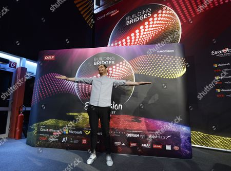 Azerbaijan Singer Elnur Huseynov Poses During a Photocall Ahead of the 60th Annual Eurovision Song Contest (esc) in Vienna Austria 14 May 2015 the Esc 2015 Consists of Two Semi-finals Which Will Take Place on 19 and 21 May and a Grand Final Held on 23 May Austria Vienna