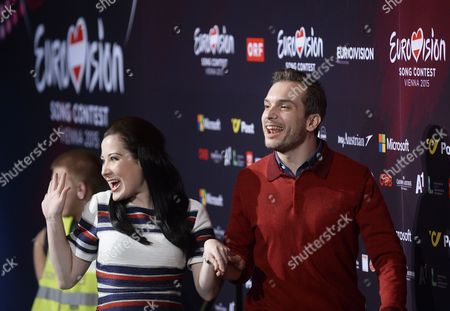 Singers Bianca Nicholas (l) and Alex Larke of Duo 'Electro Velvet' Representing United Kingdom Pose at a Photocall of the 60th Annual Eurovision Song Contest (esc) in Vienna Austria 17 May 2015 the Esc 2015 Consists of Two Semi-finals Which Will Take Place on 19 and 21 May and a Grand Final Held on 23 May Austria Vienna