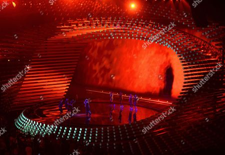 Stock Picture of Trijntje Oosterhuis (c) Representing the Netherlands Performs During Rehearsals For the First Semi-final of the 60th Annual Eurovision Song Contest (esc) at the Wiener Stadthalle in Vienna Austria 18 May 2015 the Esc 2015 Consists of Two Semi-finals Which Take Place on 19 and 21 May and a Grand Final Held on 23 May Austria Vienna
