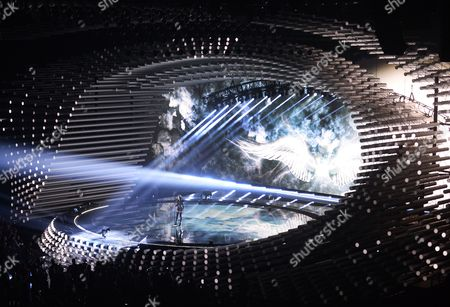 Nina Sublatti Representing Georgia Performs During Rehearsals For the First Semi-final of the 60th Annual Eurovision Song Contest (esc) at the Wiener Stadthalle in Vienna Austria 18 May 2015 the Esc 2015 Consists of Two Semi-finals Which Take Place on 19 and 21 May and a Grand Final Held on 23 May Austria Vienna