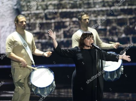Lisa Angell Representing France Performs During Rehearsals For the Grand Final of the 60th Annual Eurovision Song Contest (esc) at the Wiener Stadthalle in Vienna Austria 20 May 2015 the Event's Grand Final Takes Place on 23 May Austria Vienna