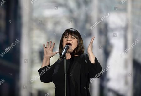 Lisa Angell From France Performs During Rehearsals For the Grand Final of the 60th Annual Eurovision Song Contest (esc) at the Wiener Stadthalle in Vienna Austria 22 May 2015 the Event's Grand Final Takes Place on 23 May Austria Vienna
