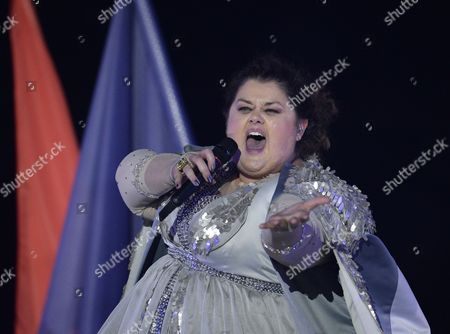 Bojana Stamenov From Serbia Performs During Rehearsals For the Grand Final of the 60th Annual Eurovision Song Contest (esc) at the Wiener Stadthalle in Vienna Austria 22 May 2015 the Event's Grand Final Takes Place on 23 May Austria Vienna