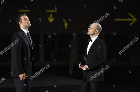 Canadian Tenor Joseph Kaiser (l) As 'Septimius' and Us Countertenor Bejun Mehta (r) As 'Didymus' Perform on Stage During the Photo Rehearsal of George Frideric Handel's 'Theodora' in Salzburg Austria 21 July 2009 the Opera 'Theodora' Premieres As Part of the Salzburg Festival at Grosses Festspielhaus on 25 July the 2009 Salzburg Festival Runs From 25 July to 30 August Austria Salzburg