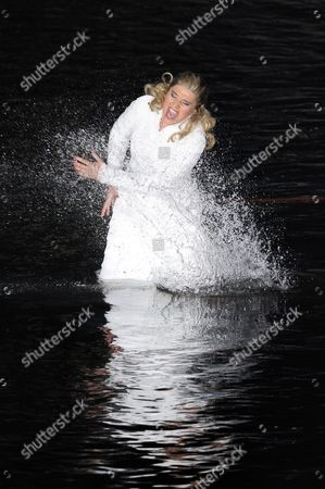 A Picture Dated 22 July 2009 Shows Spanish Mezzo-soprano Maria Jose Montiel As 'Amneris' Performing During the Premiere of the Opera 'Aida' by Giuseppe Verdi at the Floating Stage on Lake Constance in Bregenz Austria the Bregenz Festival Runs From 22 July to 23 August Austria Bregenz