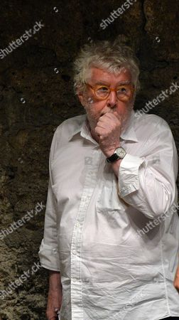 Stock Photo of British Composer Harrison Birtwistle Gestures During a Photo Rehearsal For 'Gawain' at the Felsenreitschule Theater in Salzburg Austria 23 July 2013 the Opera Production Will Premiere As Part of the Salzburg Festival on 26 July Austria Salzburg