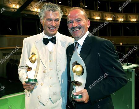 Anton Polster (l) the Record-holding Goal Scorer of the Century and Herbert Prohaska (r) who Received the Footballer of the Century Award During the Austrian Football Association Centenary Celebrations 'Sound of Football' on Tuesday 17 August 2004 Austria Vienna