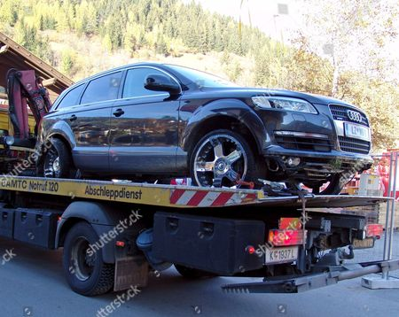 Stock Picture of Yesterday's Picture Shows the Damaged Car of Former Alpine Skier Werner Grissmann Being Removed After He Illicitly Drove Along a Ski Slope Wounding a 58-year-old Woman in Bad Kleinkirchheim Carinthia 26 October 2006 Austria Bad Kleinkirchheim
