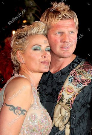 German Soccer Player Stefan Effenberg and His Wife Claudia Arrive For the Life Ball in Vienna Austria 17 May 2008 the Life Ball is Europe's Largest Aids Charity Event Begun in 1993 It Takes Place Annually at the City Hall in Vienna Austria the Event is Organized by Gery Keszler and It is the Only Aids Charity Event That Takes Place in a Political Building Austria Vienna