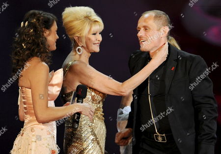 German Actress Elke Winkens (l) Czechoslovakia Born Ivana Trump (c) Former Olympic Athlete Socialite and Fashion Model Noted For Her Marriage to Mogul Donald J Trump and Life Ball Organiser Gery Keszler (r) on Stage As They Attend the 'Life Ball 2009' at the Vienna Rathausplatz Vienna Austria on 16 May 2009 the Life Ball is Europe's Largest Event For the Fight Against Aids/hiv and Since Its First Year in 1993 the Life Ball Has Evolved to a Charity Attended by Celebrities and Politicians Every Year Epa/helmut Fohringer Austria Vienna