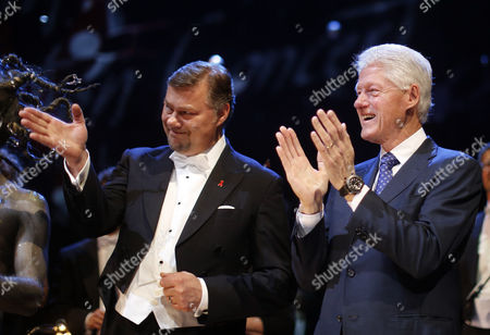 Former Us President Bill Clinton (r) and German Opera Singer Rene Pape (l) During the Final Applause at the Celebration Concert Prior to the Life Ball in Vienna Austria 24 May 2013 the Life Ball in Vienna is a Charity Event Supporting People with Hiv Or Aids the Life Ball 2013 Event Will Take Place on 25 May in Vienna Austria Vienna