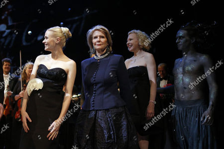 (l-r) German-austrian Actress Mavie Hoerbiger Austrian Actress Christiane Hoerbiger and German Actress Sunnyi Melles During the Final Applause at the Celebration Concert Prior to the Life Ball in Vienna Austria 24 May 2013 the Life Ball in Vienna is a Charity Event Supporting People with Hiv Or Aids the Life Ball 2013 Event Will Take Place on 25 May in Vienna Austria Vienna