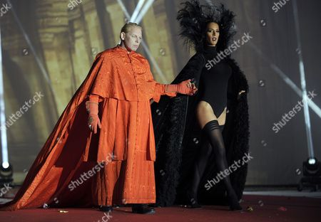 Ben Becker and Transgender Model Carmen Carrera During the Opening Ceremony of the Life Ball 2014 in Front of Vienna City Hall in Vienna Austria 31 May 2014 the Charity Event Benefits Projects For the Fight Against Hiv/aids Austria Vienna