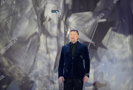 German Bass Rene Pape Performs During the Opening Ceremony of the 'Life Ball 2014' at the City Hall Square in Vienna Austria 31 May 2014 the Charity Event Benefits Projects For the Fight Against Hiv/aids Austria Vienna