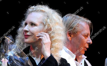 German Actors Sunnyi Melles (l) and Ben Becker at the Red Ribbon Celebration Concert at the Burgtheater in Vienna Austria 30 May 2014 the Gala Concert is Part of the Program of the Life Ball 2014 Charity Event Which Will Take Place on 31 May Austria Wien