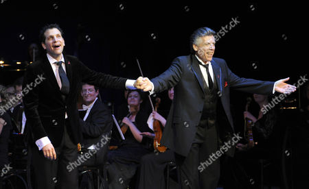Italian Bass-baritone Luca Pisaroni (l) and Us Lyric Baritone Thomas Hampson at the Red Ribbon Celebration Concert at the Burgtheater in Vienna Austria 30 May 2014 the Gala Concert is Part of the Program of the Life Ball 2014 Charity Event Which Will Take Place on 31 May Austria Wien