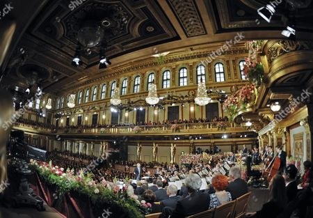 Austrian Conductor Franz Welser-most (c) Performs During the Vienna Philharmonic New Year's Concert 2013 at the Musikverein in Vienna Austria 01 January 2013 the Traditional Concert Takes Place Every Year on the Morning of 01 January Austria Vienna