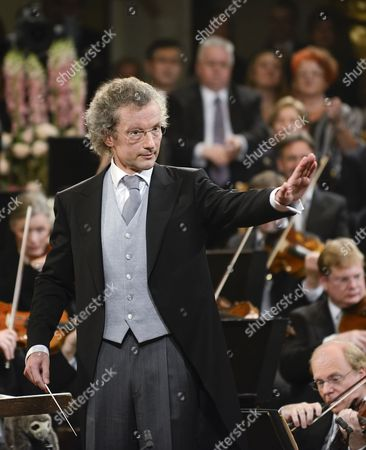 Austrian Conductor Franz Welser-most Performs During the Vienna Philharmonic New Year's Concert 2013 at the Musikverein in Vienna Austria 01 January 2013 the Traditional Concert Takes Place Every Year on the Morning of 01 January Austria Vienna
