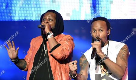 Singers Yosef Wolde-mariam (l) and Tshawe Baqwa (r) of the Norwegian Pop-rap Band 'Madcon' Perform During the 32nd Danube Island Festival (donauinselfest) in Vienna Austria 28 June 2015 the Open-air Festival Runs From 26 to 28 June Austria Vienna