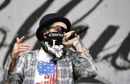 Charlie Scene Performs with His Us Band Hollywood Undead at the Nova Rock 2015 Festival in Nickelsdorf Austria 14 June 2015 the Event Runs From 12 to 14 June Austria Nickelsdorf