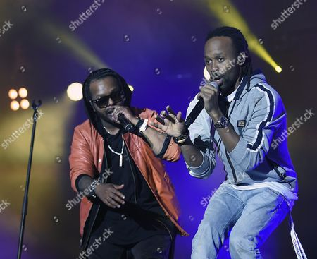 Stock Picture of Singers Yosef Wolde-mariam (l) and Tshawe Baqwa (r) of the Norwegian Pop-rap Band 'Madcon' Perform During the 32nd Danube Island Festival (donauinselfest) in Vienna Austria 28 June 2015 the Open-air Festival Runs From 26 to 28 June Austria Vienna
