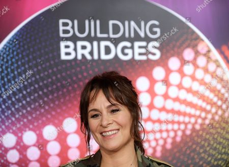 Singer Trijntje Oosterhuis Representing Netherlands in the Eurovision Song Contest Esc Smiles During a Press Conference in Vienna Austria 11 May 2015 the Final Show of the Esc Will Take Place in Vienna on 23 May Austria Vienna