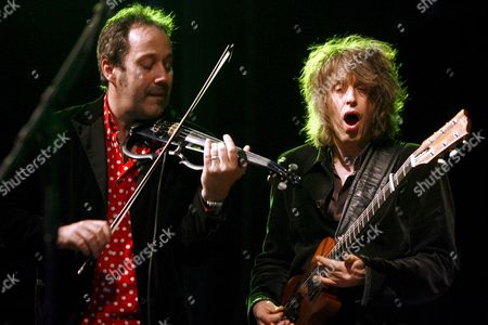 Steve Wickham (l) and Mike Scott (r) of Irish-scottish Band 'Waterboys' Perform on Stage During the 'Lovely Days 2008' Festival in Wiesen Austria on 17 August 2008 Austria Wiesen
