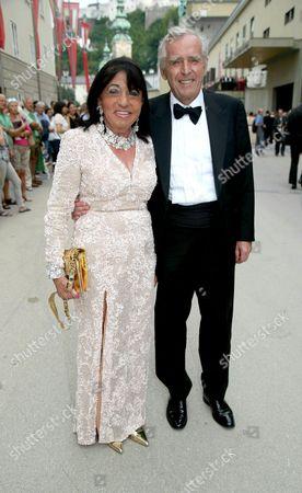 Regine and German Erich Sixt Arrive For the Opera Premiere of 'Don Giovanni' at the Salzburg Festival 2014 in Salzburg Austria 27 July 2014 the 94th Salzburg Festival Runs Until 31 August Austria Salzburg