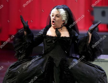 Stock Picture of Maria Happel As Maria Theresia During a Rehearsal of the Musical 'Die Habsburgischen' (the Habsburgs) in Vienna Austria 16 October the Musical Will Premiere 20 October at the 'Museumsquartier' (museumsquarter) in Vienna Austria Vienna